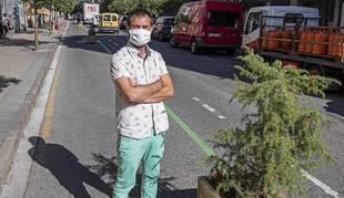 El alcalde de Estella, Koldo Leoz, en el paseo de la Inmaculada cuya peatonalización defiende.