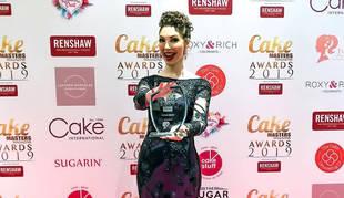 La repostera Liz Joy-Murray en una entrega de premios en Inglaterra.