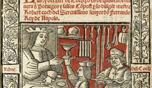 Ilustración de portada del 'Llibre del Coch', 1520.  Biblioteca de catalunya
