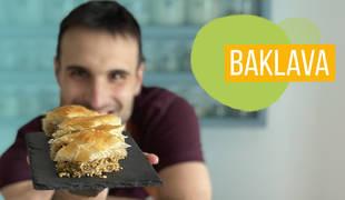 Baklava, un postre tradicional de Turquía y Oriente Medio