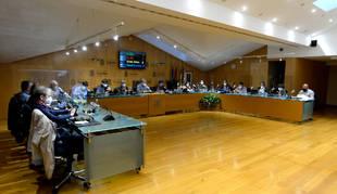Imagen del pleno municipal de Tafalla en una sesión anterior.