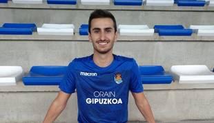 Javi Colomo, con el uniforme de la Real Sociedad, su último club.