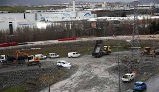 Vista de las obras del sector Eulza en enero pasado.