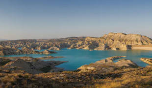 Embalse de Algeciras, en el municipio de Alhama de Murcia, región de Murcia, España.