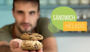 Sándwich helado de galleta