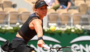 La tenista española Pauda Badosa, durante su partido de cuartos en Roland Garros ante Zidansek