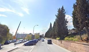 Vista del Paseo de Pamplona de Tudela.