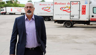 Julio Martínez de Quel, gerente de la empresa de congelados que tiene su base logística y una de sus tiendas en el polígono Comarca II.