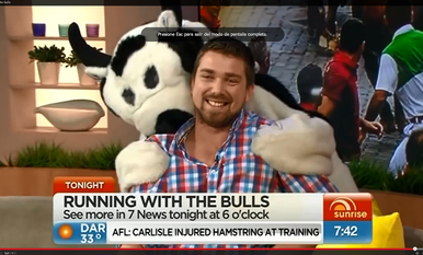 Jason Gilbert, en el programa 'Sunrise' de la televisión australiana.