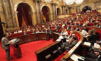 Vista general del Parlament durante una sesión anterior