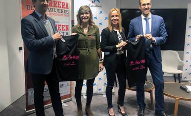 Pablo Ayestarán, Patricia Beraza, Begoña Echeverría y David González, en la presentación de la IV Carrera de las Mujeres.