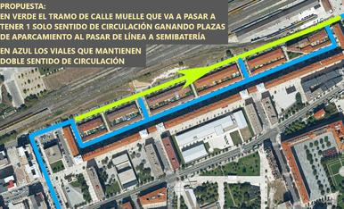 La calle del Muelle en San Jorge se convertirá en vía de un único sentido