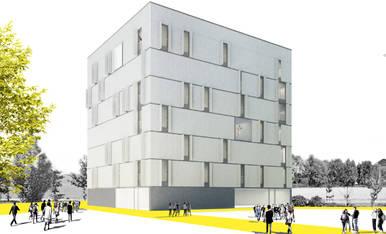 Imagen virtual de cómo será el edificio de viviendas.