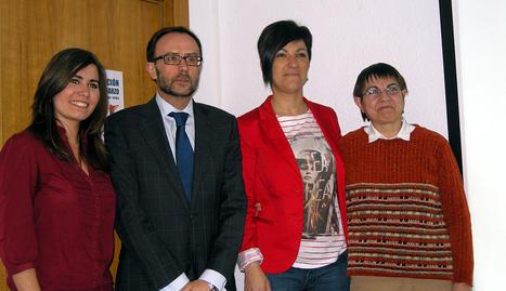 De izquierda a derecha: Ana Gorría, Gerardo Posada, Uxue Zulet y María Jesús Goñi.