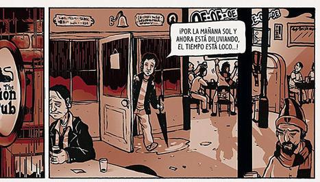 Imagen facilitadas por Aleix Gordo de una de las páginas del último cómic que acaba de publicar,