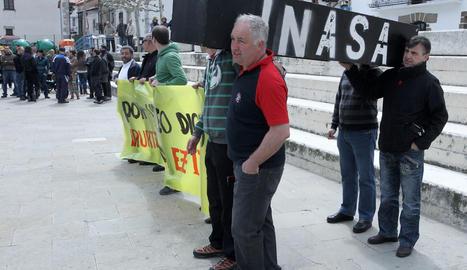 Manifestación trabajadores de INASA el pasado 6 de mayo