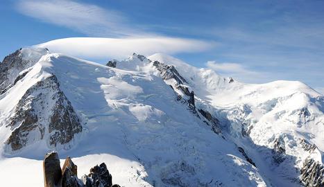 Imagen del macizo de Mont Blanc correspondiente al mes de septiembre de 2010