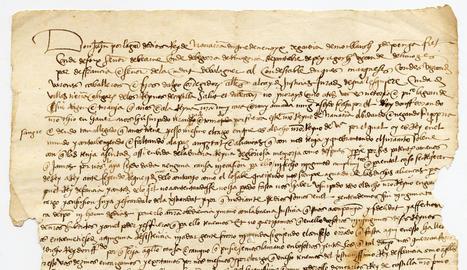 El documento sobre la conquistas