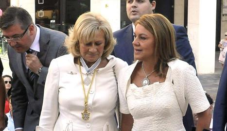 Cospedal, junto a la alcaldesa de Albacete