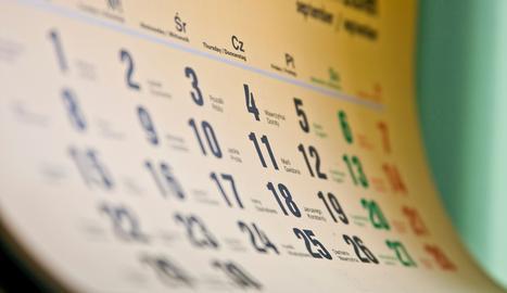 El próximo año, el calendario laboral tiene una fiesta laboral nacional menos y no facilita libranzas adicionales  .. SXC