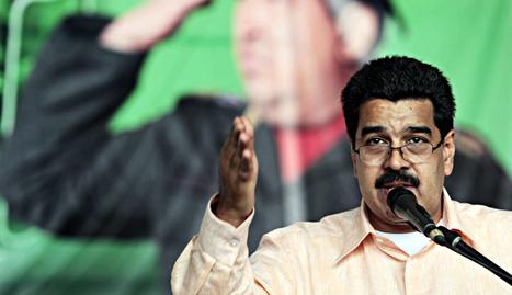 El vicepresidente venezolano, Nicolás Maduro, durante la lectura del mensaje navideño de Hugo Chávez