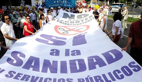 Protesta a favor de la sanidad pública en Madrid. AGENCIAS