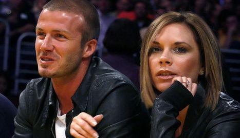 David Beckham y su mujer, Victoria.