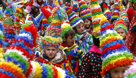 Una imagen del carnaval rural de Estella del año pasado. ARCHIVO