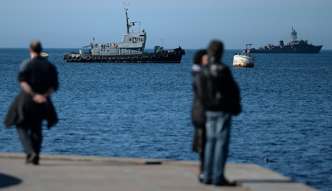Vista de la flota rusa en Sebastopol. afp