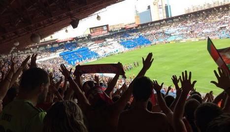 Aficionados de Osasuna en La Romareda. J.R.D.E.