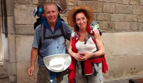 Peregrinos en Pamplona
