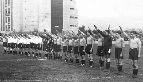 Imagen del partido amistoso entre España y Portugal en el que debutó Vergara (1937).ARCHIVO DN