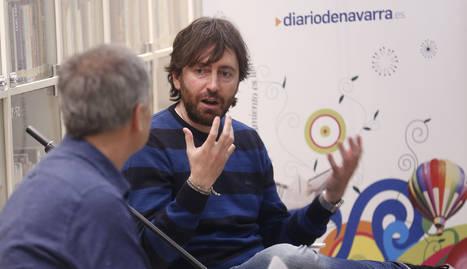 Daniel Sánchez Arévalo en el Club de Lectura de Diario de navarra
