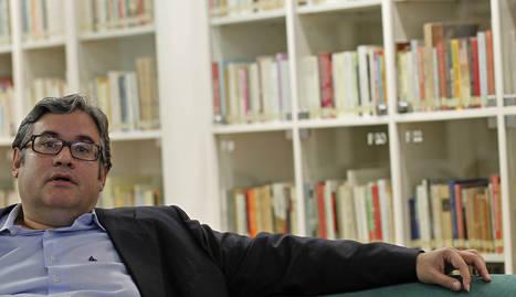 Juan Manuel de Prada en el club de lectura de Diario de Navarra