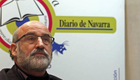 Fernando Aramburu en el club de lectura de Diario de Navarra