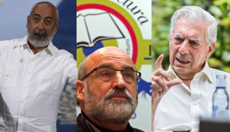 Leonardo Padura, Fernando Aramburu y Mario Vargas Llosa