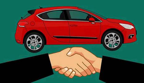 Foto conceptual de la compra de un coche