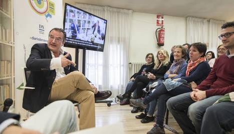 Javier Corpas en el Club de Lectura de Diario de Navarra