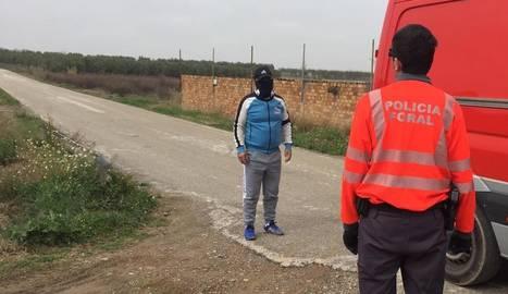 La Policía Foral identifica a un corredor en Ablitas, para el que propondrá sanción