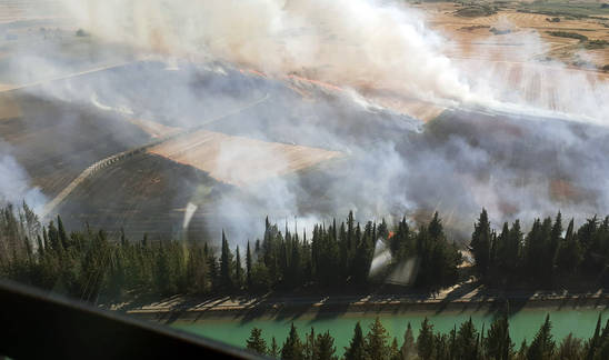 Incendio en San Isidro del Pinar (Cáseda).