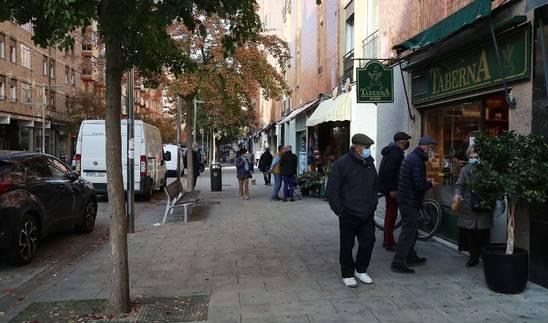 La calle de Martín Azpilcueta, en el barrio de San Juan.