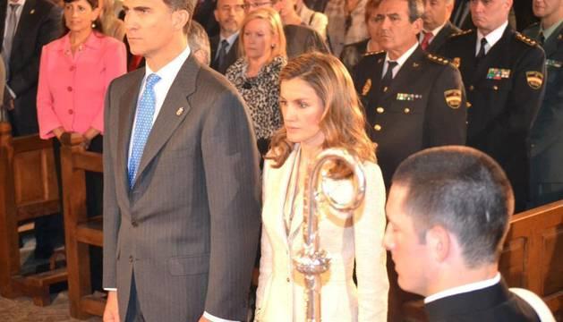 Los Príncipes de Asturias presiden en Leyre el Homenaje a los Reyes de Navarra