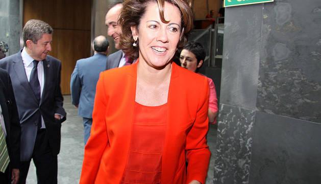 La líder de UPN, Yolanda Barcina, nueva presidenta de Navarra.