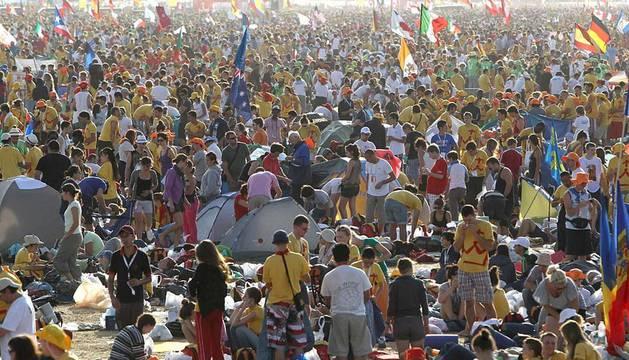 Cuarta jornada de la visita de Benedicto XVI con ocasión de la Jornada Mundial de la Juventud que se celebra en Madrid.
