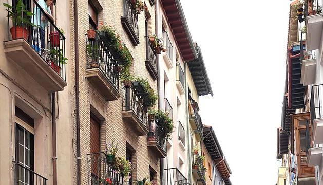 Incendio en la calle la Merced de Pamplona