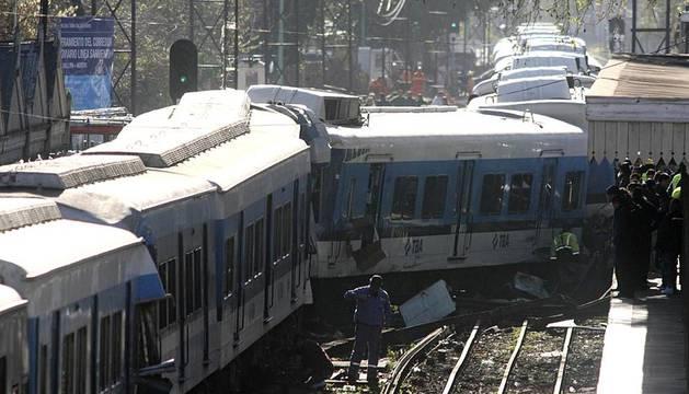 Accidente ferroviario en Buenos Aires