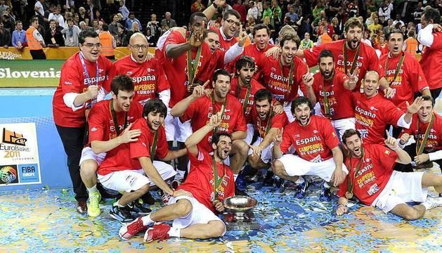 Final del Eurobasket de Lituania 2011 disputada entre España y Francia con victoria española por 98-85.