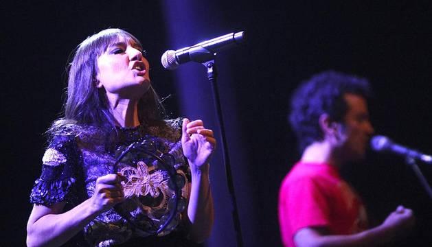 Imágenes del concierto de Amaral de este jueves en Pamplona