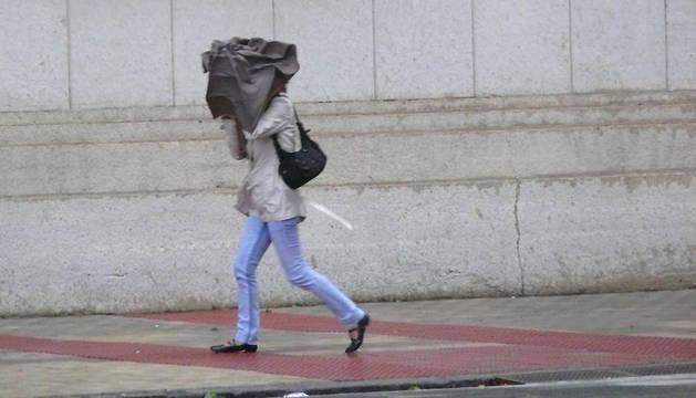 Fuertes vientos en Pamplona