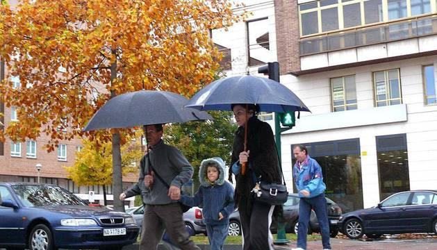 Fuertes lluvias en Pamplona